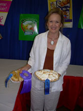 2007 TN State Fair                     Chocolate Meringue Pie and Fried Peach Pies                     Both were blue ribbon winners, then tied for                     Best of Show